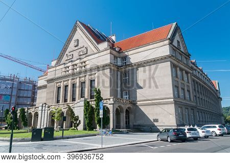 Prague, Czech Republic - July 10, 2020: Faculty Of Law Of The Charles University.