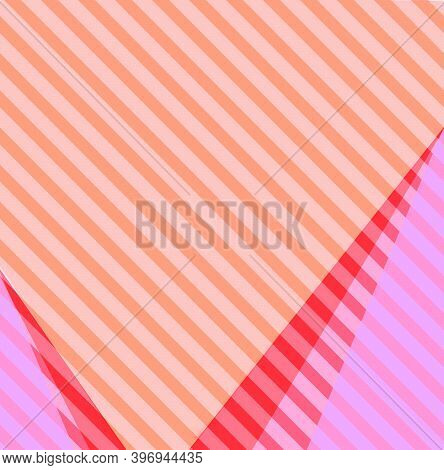 Pink, Red With Orange Stripes Colorful Background Ang Copy Space.