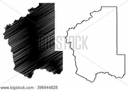 Jefferson County, Montana (u.s. County, United States Of America, Usa, U.s., Us) Map Vector Illustra