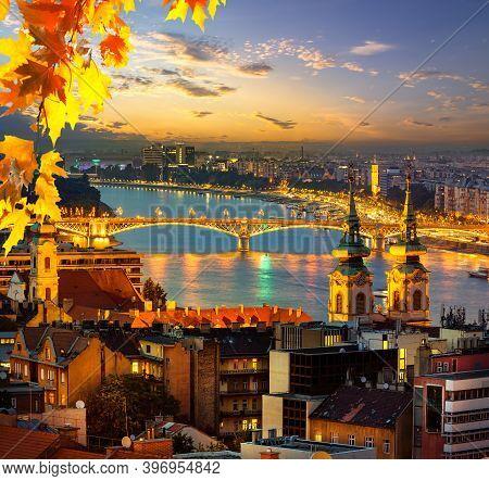 View Of Budapest In Evening Illumination, Hungary