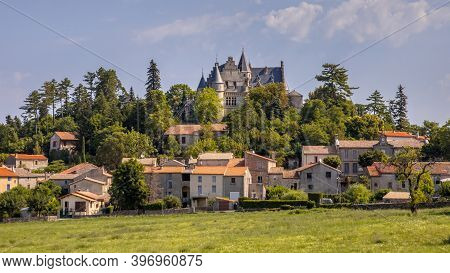 Rural Town Of Montdardier In Occitania France