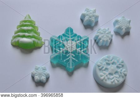 A Set Of Beautiful Handmade Christmas Soap
