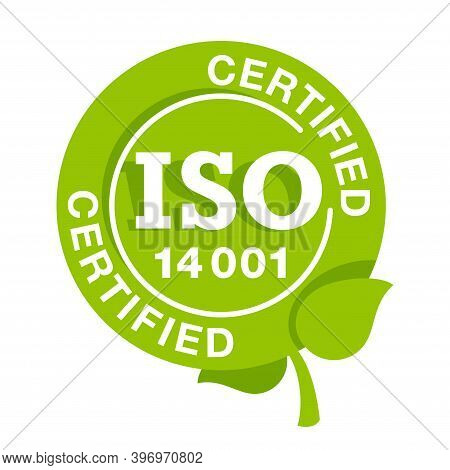 Iso 14001 Environmental Management System Certified Sign - International Standard Approved Stamp  -