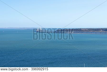 Kerch, Crimea - September 16, 2020: Beautiful Summer Landscape With Views Of The Sea And The Crimean