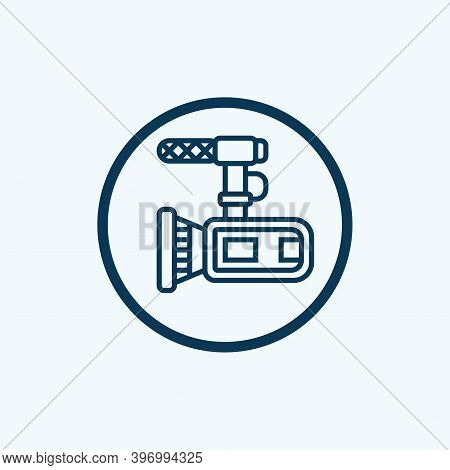 Video Camera Icon Isolated On White Background From News And Journal Collection. Video Camera Icon T