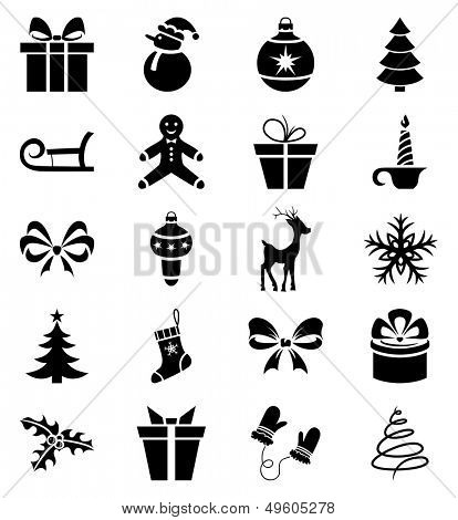 Set of 20 Christmas icons