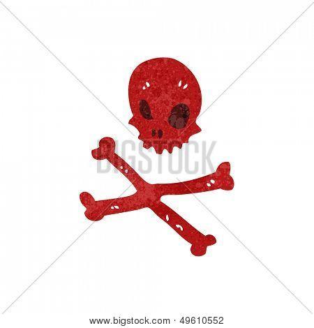 retro cartoon skull and crossbones