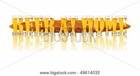 BEER ALPHABET letters BEER AT HOME