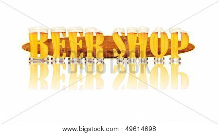 BEER ALPHABET letters BEER SHOP