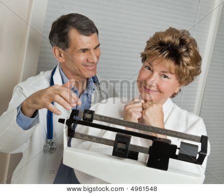 Reaching Her Target Weight