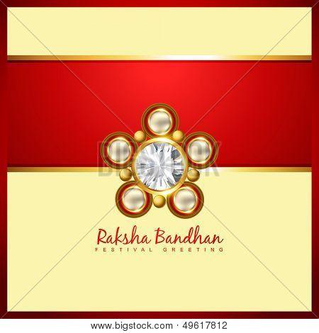 beautiful golden rakhi for hindu rakshabandhan festival