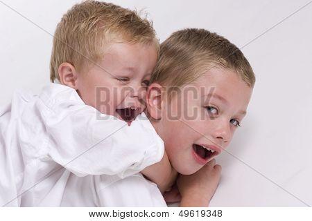 Boys Rough Housing