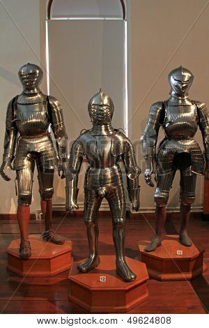 INNSBRUCK, AUSTRIA - AUGUST, 2012 : Chambers of Armour at Schloss Ambras (Ambras Castle) on August 13, 2012