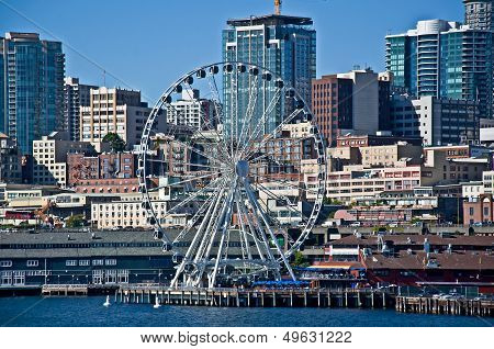 Seattle, Wa - August 2 - Seattle Great Wheel Hits 1 Million Riders
