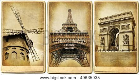 Paris - vintage cards series