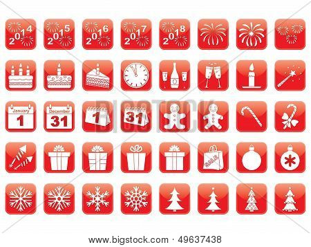 Set Of New Year Icons