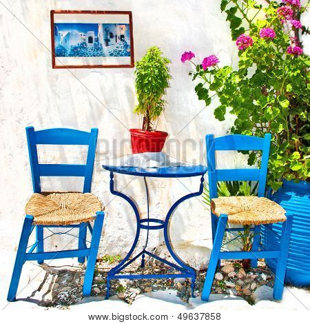 traditional Greece series - vivid tavernas