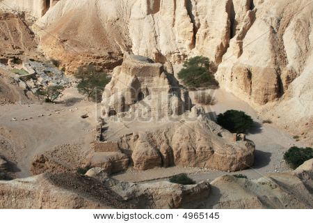 Texture Of  Biblical Caves Near The Dead Sea