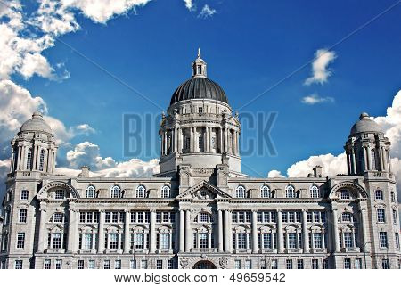 Port of Liverpool building on Liverpool waterfront poster