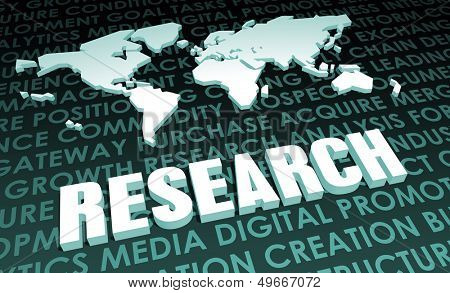 Research Industry Global Standard on 3D Map poster