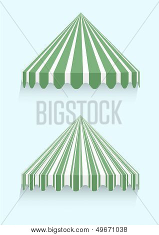 detailed illustration of conical awnings