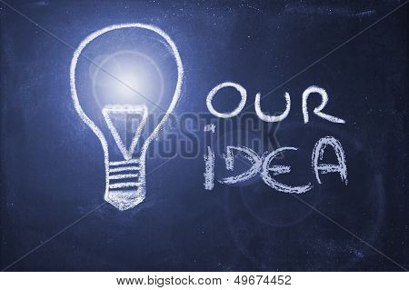 Chalk Design With Lightbulb, Business Uniqueness