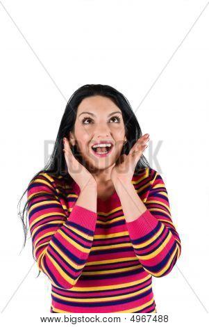 Beautiful Surprised Woman