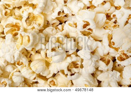 Popcorn Background Close Up