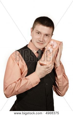 Man In West With Gift