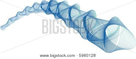a vector image of blue swirls flowing across the page poster