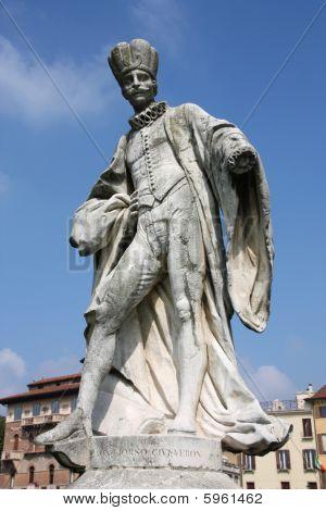 Statue in famous Prato della Valle square in Padua Italy. Gerolamo Liorsi Veronese nobleman philosopher erudite and rector. poster