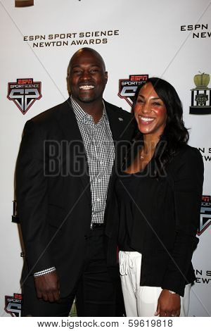 LOS ANGELES  - FEB 9:  Marcellus Wiley, fiance at the ESPN Sport Science Newton Awards at Sport Science Studio on February 9, 2014 in Burbank, CA