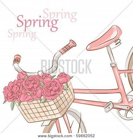 Illustration of retro bicycle
