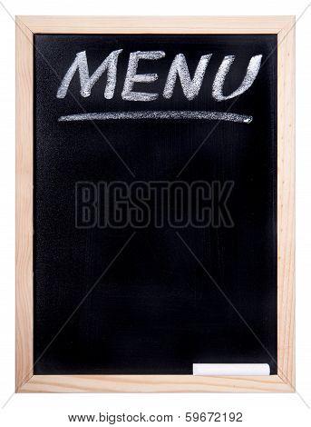 Blackboard With An Inscription Of The Menu