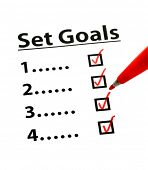 Set Goal with check box poster