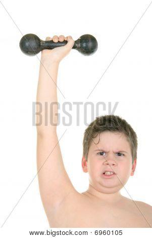 Little Boy Does Gymnastics