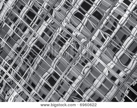 Abstract black and white Glass