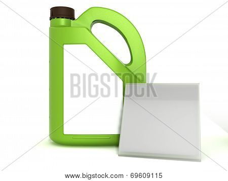 Gasoline jerrican on a white background