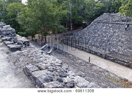 Football field of the Mayas