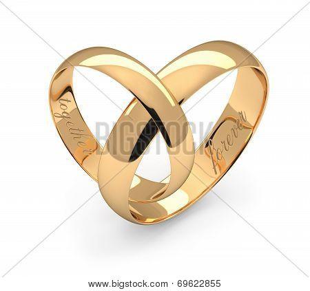 Wedding Rings On White.
