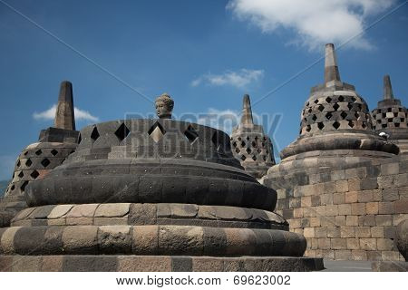 Borobodur stupas near to Jogyakarta, Java island, Indonesia