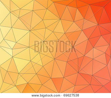 Abstract Glass Vitrage-orange Spectrum