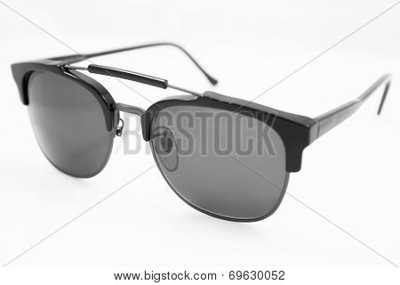 Black Lens Sunglasses Isolated On White Background
