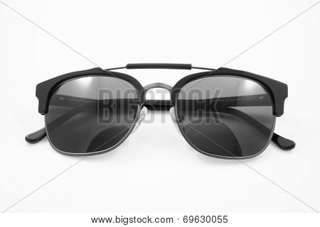 Black Modern Sunglasses Isolated On White Background
