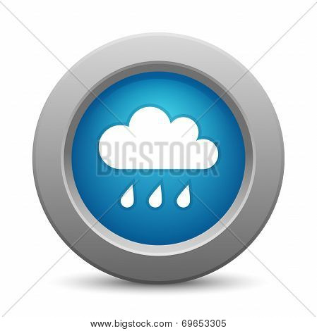 Cloud button, vector illustration