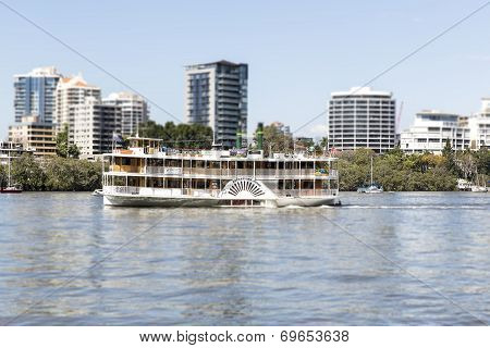 Kookaburra River Queen Paddlewheeler. TILT SHIFT