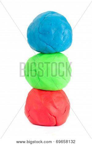 Three Balls Of Play Doh
