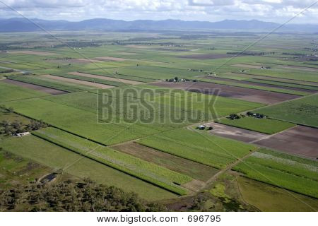 Aerial Of Australian Farm