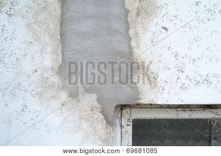 Rough, Botched, Putty, Cement Wall