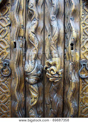 Old Mexican Wooden Door